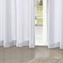 Cortina Rústica Pantex 2,60x1,70m Branco - Bella Janela