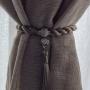 Prendedor Abraçadeira para Cortina Com Imã e Franja Strass - Fendi