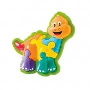 Animal puzzle Dino - calesita 10 Peças