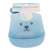 Babador de Silicone Com Pega Migalhas Gumy Azul - Buba 12092