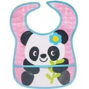 Babador Impermeável Panda Com Bolso - Buba 5980