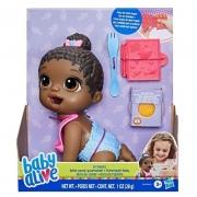 Baby Alive - Hora da Papinha Lil Snacks Negra - Hasbro F2618