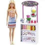 Barbie com Cenário Conjunto de Sucos Tropicais - Mattel GRN75