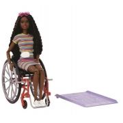 Barbie Fashionista Cadeira de Rodas Cabelo Cacheado - Mattel