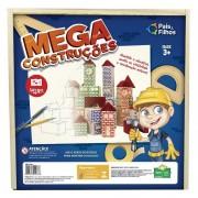 Blocos Mega Construções - Estojo Madeira - 120 peças