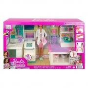 Boneca Barbie Com Cenario Clinica Medica - Mattel