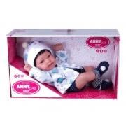 Boneca Bebê - Anny Doll - Baby Reborn Menino - Cotiplás