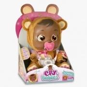 Boneca Cry Babies Bonnie Negra Chora de Verdade - Multikids