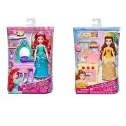 Boneca Princesa Disney 30 Cm Com Acessórios e Cenário Hasbro