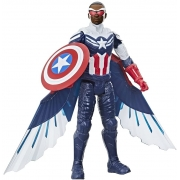 Boneco Figura Capitão América Falcão - Titan Hero - Hasbro