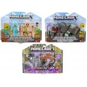 Box 2 Figuras Minecraft com Acessórios e Blocos - Mattel