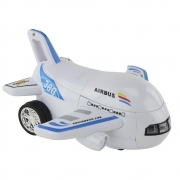 Brinquedo Avião Vira Robô Bate e Volta Emite Luz e Som - BBR 3020