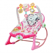 Cadeira De Balanço Snoopy Rosa Yes Toys