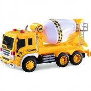 Caminhão Betoneira Com Luz, Som e Fricção 1:16 - Shiny Toys