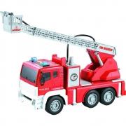 Caminhão Bombeiro Fricção com Luz, Som e Jato de Água 1:12 - Shiny Toys