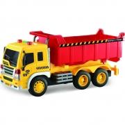 Caminhão Caçamba de Construção Fricção com luz e som 1:16 - Shiny Toys