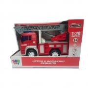 Caminhão De Bombeiro Com Som E Luzes - Bbr Toys