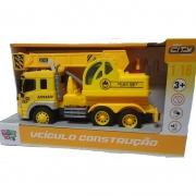 Caminhão de brinquedo infantil com guindaste - som e luzes