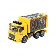Caminhão De Construção C/ Acessórios - Fricção Luz e Som - BBR