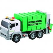 Caminhão de Lixo com Fricção Luz e Som 1:12 - Shiny Toys