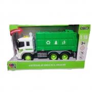 Caminhão De Lixo Reciclagem Com Som E Luz - Bbr Toys