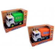 Caminhão Fricção Coleta de Lixo Luz e Som - Dm Toys