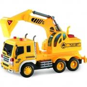 Caminhão Truck Escavadeira Construção com Luz e Som 1:16 - Shiny Toys
