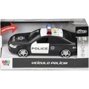 Carrinho de Polícia com Sirene e Luzes - BBR 3038