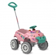 Carro Baby Cross Passeio e Pedal Rosa - Bandeirante