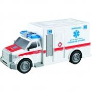Carro de Ambulância com Luz e Som 1:20 - Shiny Toys