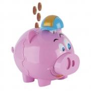 Cofrinho Din Din Pig Rosa - Fenix Brinquedos MP01