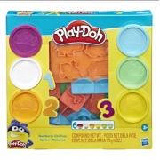 Conjunto de Massinhas Play Doh Moldes de Números - Hasbro