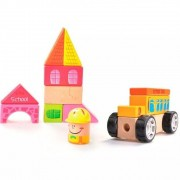 Construindo com Bloquinhos - Escola - Estrela Baby - Madeira