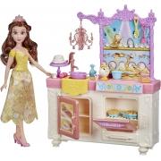 Disney Princess Cozinha real - Princesa Bela - Boneca Articulada - Hasbro E8936