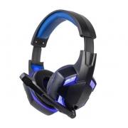 Fone de Ouvido Headset Gamer Preto/Azul Dust - BBR