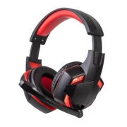 Fone de Ouvido Headset Gamer Preto/Vermelho Dust - BBR