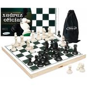 Jogo de Xadrez Oficial com Estojo em Madeira - Xalingo60009
