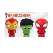 Kit com 3 Mini Bonequinhos de espuma Avengers - 10 cm - Toyng