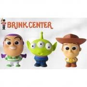 Kit com 3 Mini Bonequinhos de espuma Toy Story - 10 cm - Toyng