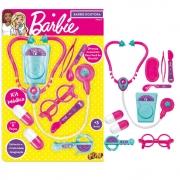 Kit de Médico Barbie Doutora Blister Estetoscópio Fun 00579