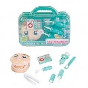 Kit Dentista Infantil Com Maleta Verde Fenix