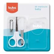 Kit Manicure Baby Com Tesoura Lixa e Cortador Buba 5245