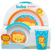 Kit Refeição Infantil Animal Fun Leão - Buba 10734