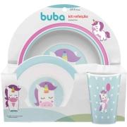 Kit Refeição Infantil Animal Fun Unicórnio - Buba 10737