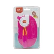 Kit Refeição Infantil C/ Divisória e Colher Rosa - Buba 5805