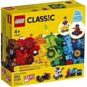Lego Classic Blocos e Rodas 653 Peças - 11014