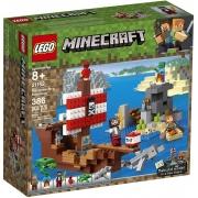 LEGO Minecraft A Aventura do Barco Pirata 386 Peças - 21152