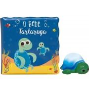 Livro de Banho e Mini Figura O Bebê Tartaruguinha Buba