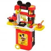 Maleta de Viagem Mickey Cozinha - Play Set 3 em 1 - Multikids 1300