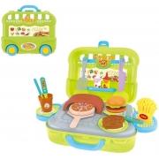Maleta Pizzaria 3 Em 1 - Verde - Dm Toys